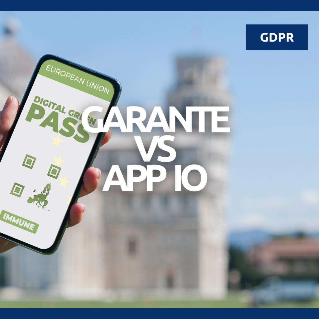 garante vs app io